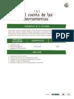 Planteamiento de las actividades - Actividades de comunicación - Actividad 6 El cuento de las herramientas.pdf