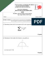 examen extraoridinario de calculo