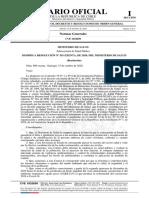 Diario Oficial publicó nuevos criterios sanitarios