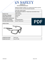 PPE technical file glasses
