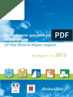 Greenhouse gas observatory Rhône-Alpes region