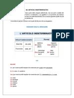 LEZIONE 5 - ARTICOLO INDETERMINATIVO