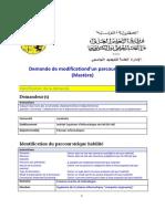 Rapport de modification du plan d'études de Mastère pro. en ASRI