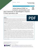 The effect of seminal plasma β-NGF
