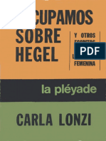 Carla Lonzi - Escupamos sobre Hegel