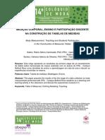 Flavio Gloria Caminada Sabra-MEDIÇÃO CORPORAL, ENSINO E PARTICIPAÇÃO DISCENTE NA CONSTRUÇÃO DE TABELAS DE MEDIDAS_artigo final