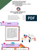 RIESGO DE LIQUIDEZ Y 4 PRINCIPIOS DEL MANEJO DE EFECTIVO