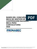 Bases del concurso - Beca Perú 2020