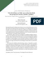 Voto electrónico en Chile - Riveros y Viollier