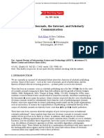 Electronic Journals, the Internet and Scholarly Communication_CSI working paper WP01-04