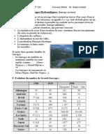 Projet 1, barrage en terre