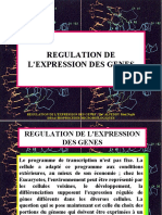 REGULATION DE L'EXPRESSION DES GENES