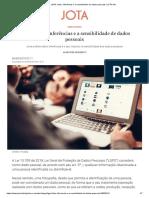 LGPD_ fotos, inferências e a sensibilidade de dados pessoais _ JOTA Info