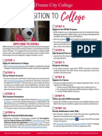 transition to college checklist flyer final - fall 2020