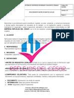 PROCEDIMIENTO DE MATRIZ REQUISITOS LEGALES
