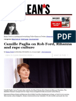 Camille Paglia feminism