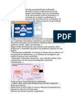 Que es una estructura de una presentación multimedia