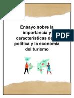 ensayo de la politica turistica y la economia del turismo