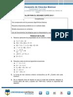 TALLER DE FUNDAMENTALMENTE MATEMÁTICA