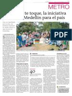 Que la paz te toque, la iniciativa juvenil de Medellín para el país