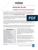 Beringer Report - Measure or Die