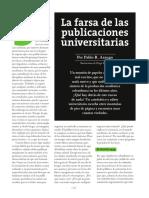 2016. ARANGO PABLO. La farsa de las publicaciones.pdf
