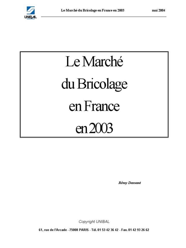 Le Marché Du Bricolage En France En 2003 Commerce De