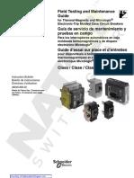Guía de servicio de mantenimiento y pruebas en campo schneider