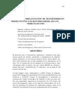 Mantenimiento Predictivo , concepto y aplicado en motores diesel