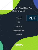 Plantilla prácticas Documento Final Plan De Mejoramiento FINAL