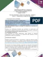 Guia de actividades y Rúbrica de evaluación - Unidad 2 - Tarea 2 - Argumentos y reglas de inferencia.pdf