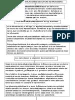 teoria de las sutuaciones didacticas de Brousseau Daniel Mercado