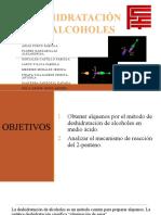 DESHIDRATACIÓN DE ALCOHOLES