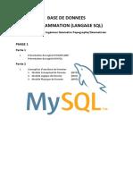 PROGRAMME MYSQL