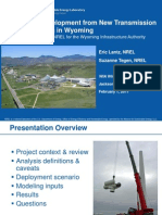 Economic Development from New Transmission and Generation in Wyoming