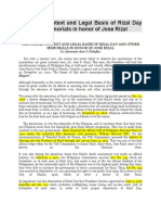 Chapter 2. Historical Context and Legal Basis of Rizal Day and Other Memorials in honor of Jose Rizal