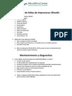 Instructivo de fallas de Impresoras Olivetti_17032015JB