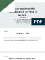 Contaminación Río Magdalena por derrame de melaza