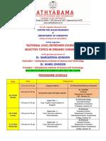 OCRC Programme schedule