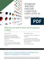 SUMMARY WRITING ENGLISH LANGUAGE