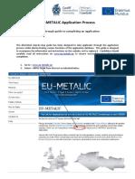 EU-METALIC Application Process