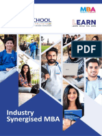 Industry Synergised MBA 2020