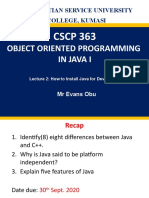 OOP IN JAVA 1 - Lecture. 2