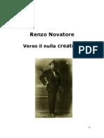 Renzo Novatore Verso Il Nulla Creatore