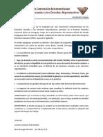 Comunicado sobre Informe EPU 2011