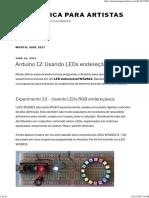 June 2017 – Eletrônica para artistas
