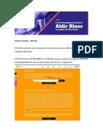 Passo a Passo Editais Aldir Blanc 1602101484
