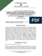 Providencia de la Juez Nohora García Pacheco