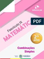 Fascículo_9_2º_Ano_Matemática_-Combinações Simples-