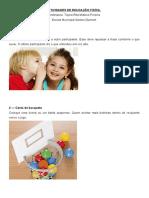 ATIVIDADES DE EDUCAÇÃO FISÍCA